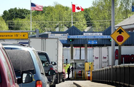 Гостевая виза в Канаду, граница